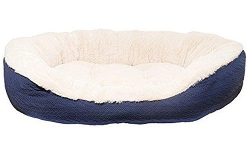Rosewood Pet Bedding Navy Cable Knit Bed