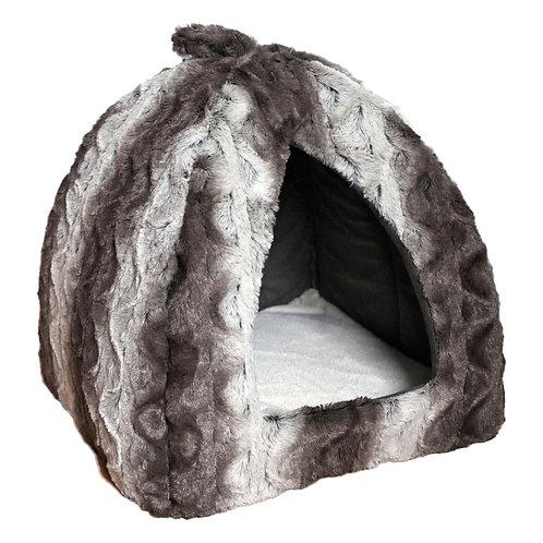 Grey Cream Snuggle Plush Pyramid