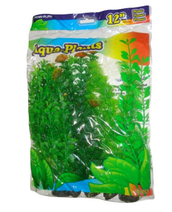 "12"" PLASTIC PLANT GREEN PACK"