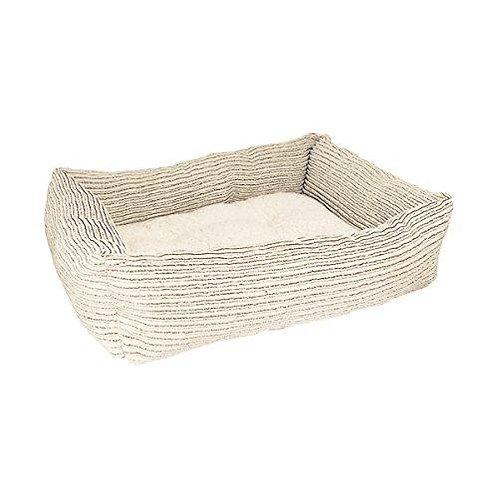 Rosewood Pet Bedding Beige Jumbo Cord/Teddy SQ Bed