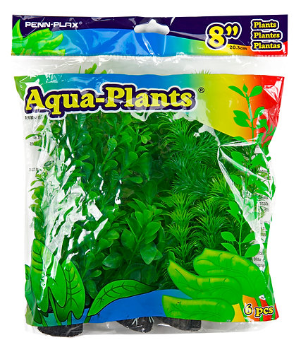 "8"" PLASTIC PLANT GREEN PACK"