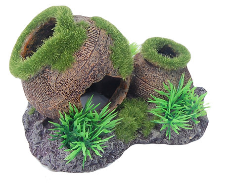 14CM POT WITH MOSS