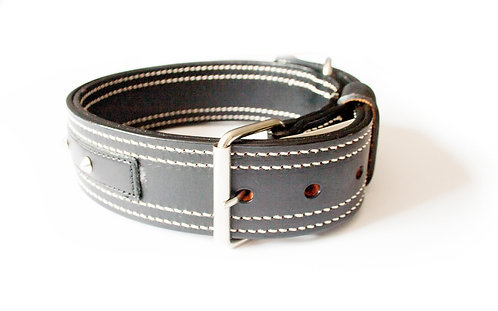 DOG COLLAR WEMBLEY LEATHER STITCH