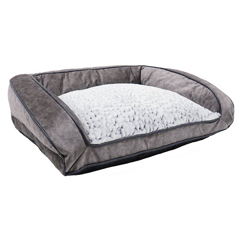 Rosewood Pet Bedding Luxury Fleece- Lined Plush Sofa Med 74cm