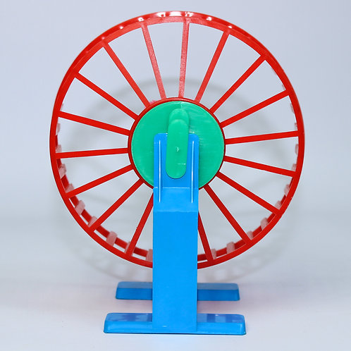 HAMSTER WHEEL w/BASE AND CLIP ONTO CAGE