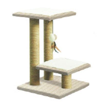 TWO TIER TALL CAT SCRATCHING PERCH