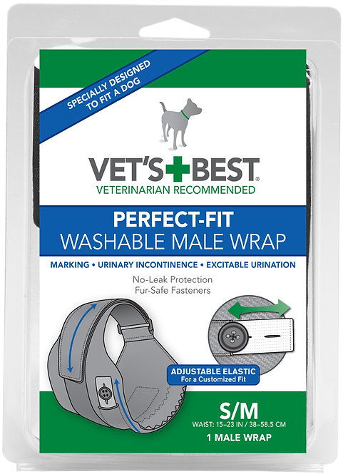 VB PERFECT FIT WASHABLE MALE WRAP SM/MED