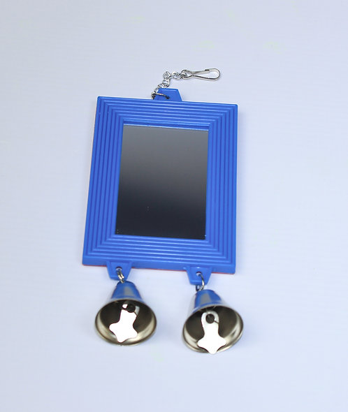 2-SIDED RECTANGULAR MIRROR WITH 2 BELLS