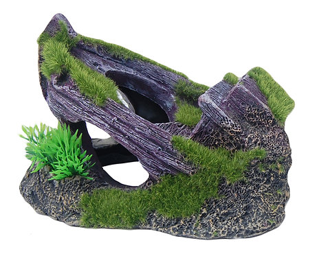16CM BOAT WITH MOSS