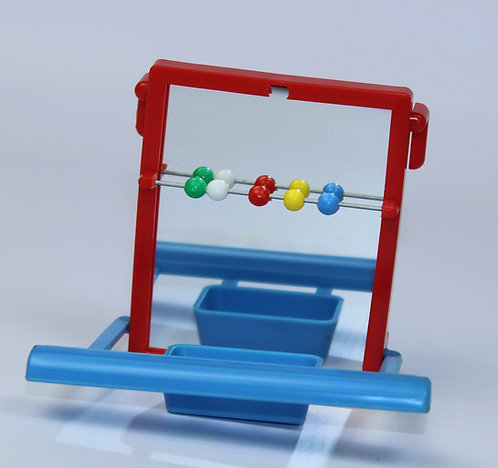 PERCH MIRROR WITH FEEDER AND BEADS