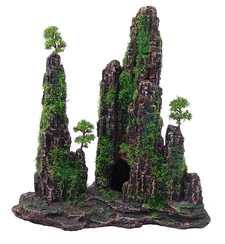22CM MOUNTIAN WITH MOSS