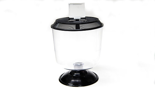 PLASTIC ROUND TANK w/BASE AND LID 255mm