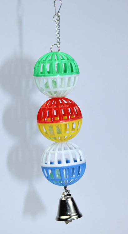 3 JINGLE LATTICE BALL w/BELL