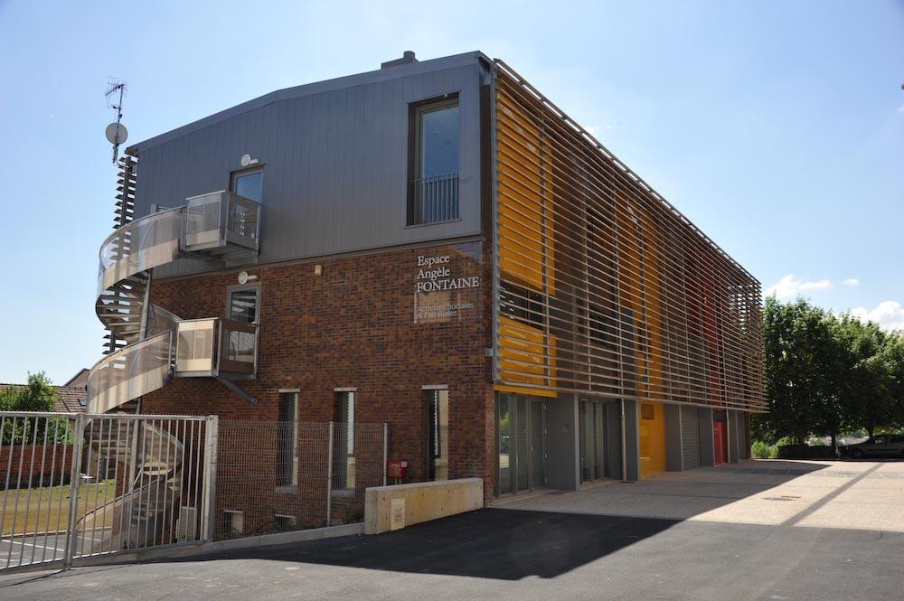 Centre d'Activités Sociales de Thourotte. Architecte: Fabrice Viney