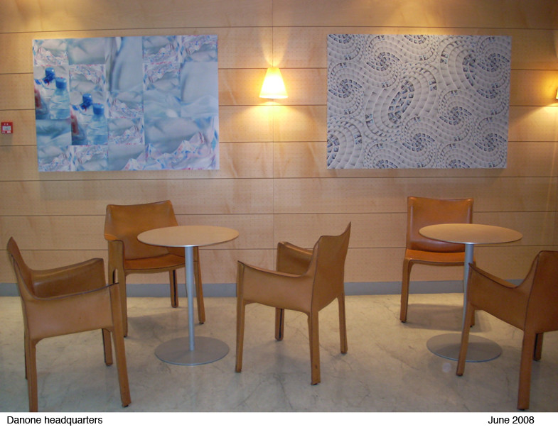 Two compositions  commissioned by Danone for the Danone headquarters, Paris. 2006.