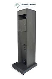 Foot Operated Hand Sanitizer Dispenser  Grey Oak - Large