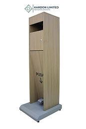 Foot Operated Hand Sanitizer Dispenser  Medium Walnut - Large