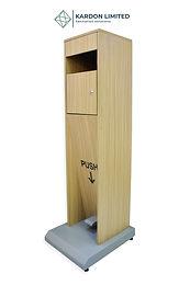 Foot Operated Hand Sanitizer Dispenser  Light Pine - Large