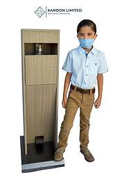 Foot Operated Hand Sanitizer Dispenser  Medium Walnut - Compact