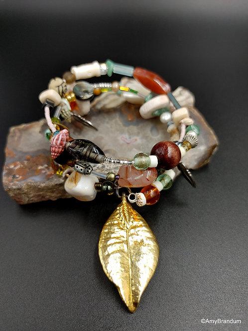 Forest Walk wire bead bracelet