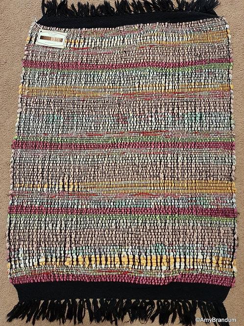 Pink Sea Glass Stripes Rag Rug