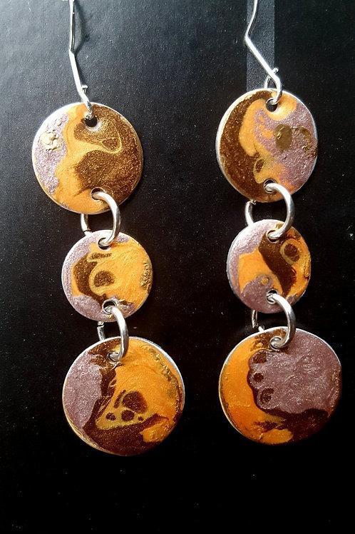 Desert Sand Circles Earrings