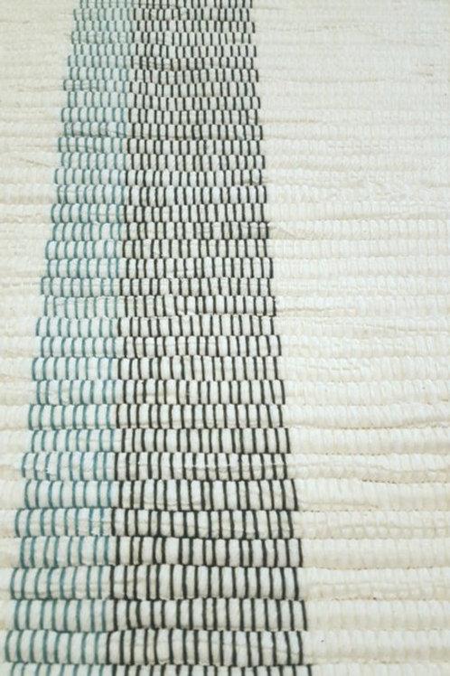 Snow Stripes Rag Rug