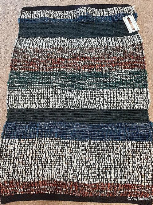 Dark Neutral Multi Stripes Rag Rug