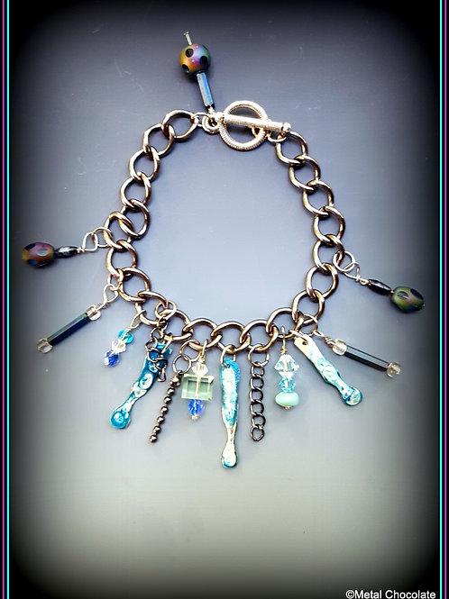 Raindrops in the City chain bracelet