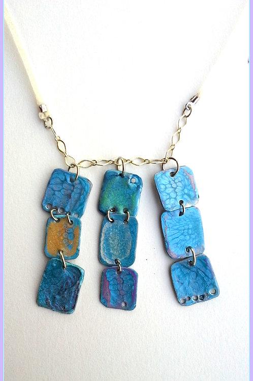 Blue Summer Sky Handmade Art Necklace