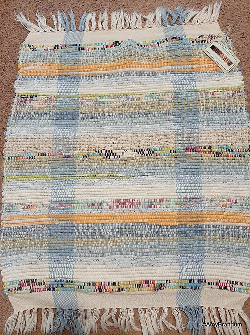 Blue Small Storybook Stripes Rag Rug