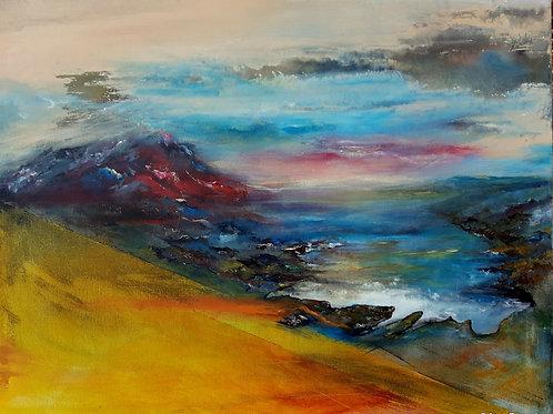 "Early Twilight original painting, 24x30"""
