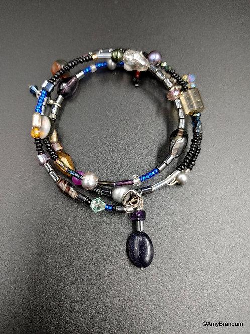 Galaxy wire bead bracelet
