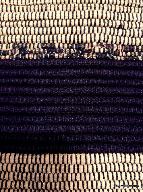 Bumble Bee Stripes Rag Rug