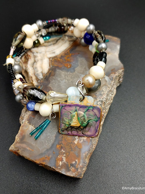 Avalon Forest wire bead bracelet