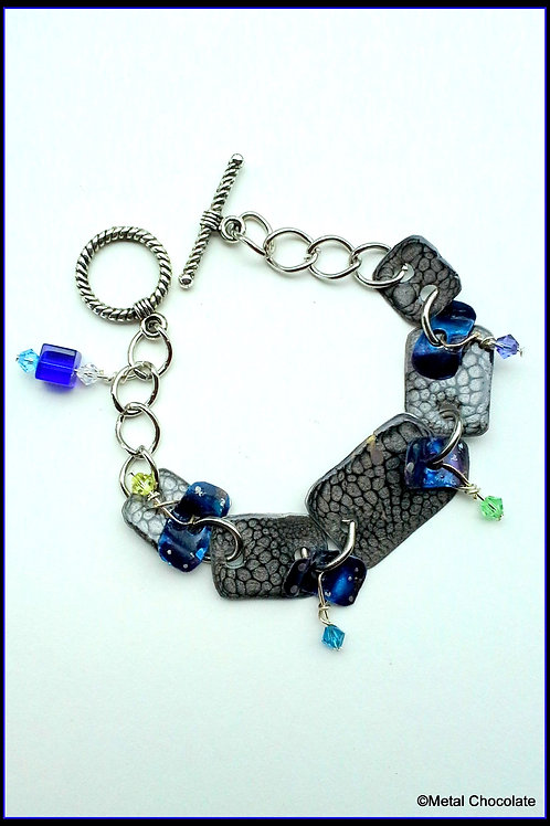 Starry Dark Night Sky crystal chain bracelet