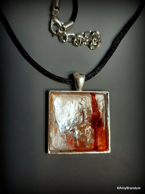 Rust and Silver Snow Necklace