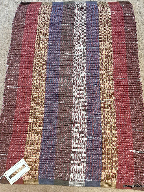 Country Farmhouse Multi Stripes Rag Rug