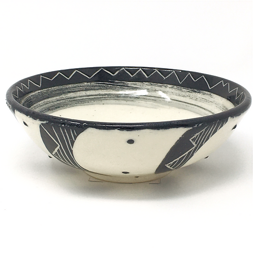 Black & White Ribbon Bowl