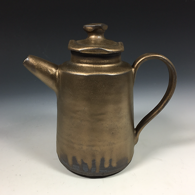 Old Gold Tea Pot with Coffee Pour Over