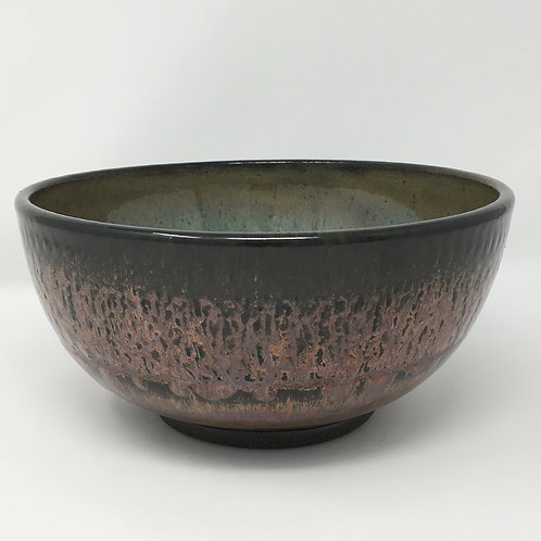 Copper and Turquoise Fruit Bowl