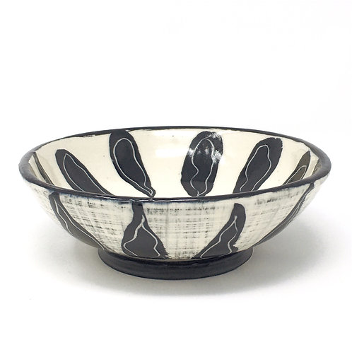 Black & White Petal Bowl