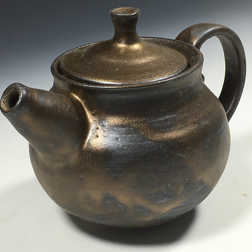 Round Gold Tea Pot