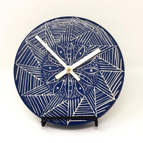 Blue Flower Clock