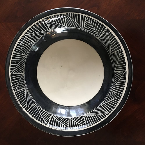 Black & White Serving Bowl