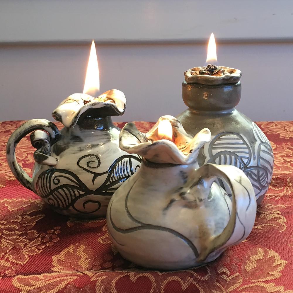 Fire Flower Oil Lamps