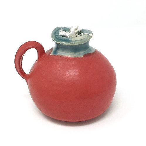 Matte Red Oil Lamp