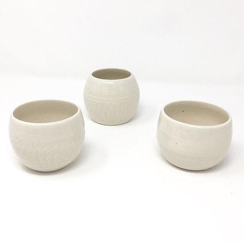 Porcelain Votive Holder Trio
