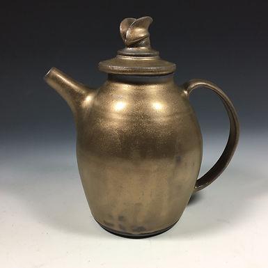 Tall Golden Tea Pot