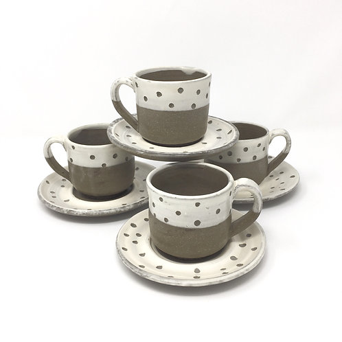 Half Dotted Espresso Cup Set
